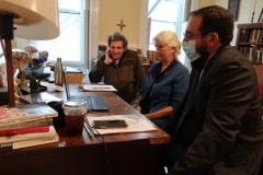 Martha and Carmen preparing for sentencing with Matt Daloisio